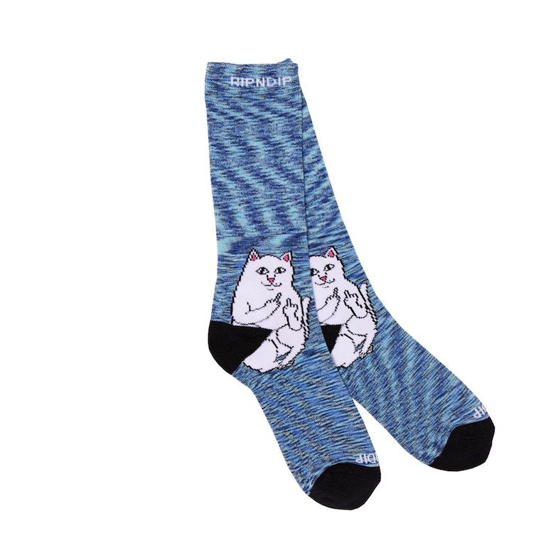 RIPNDIP Lord Nermal Navy Speckle Crew Socks