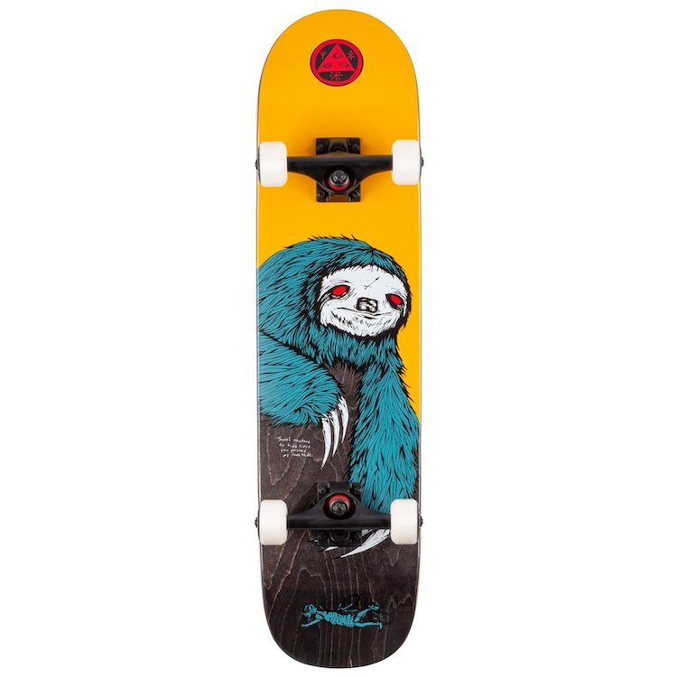 Welcome Skateboards Sloth Complete on Scaled Down Bunyip Complete Skateboard 7.75