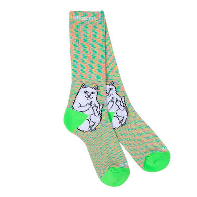 RIPNDIP Lord Nermal Neon Speckle Crew Socks