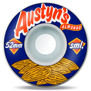 SML. Wheels Austyn Gillette Classics Series Austyn's Almonds Skateboard Wheels 99a 52mm