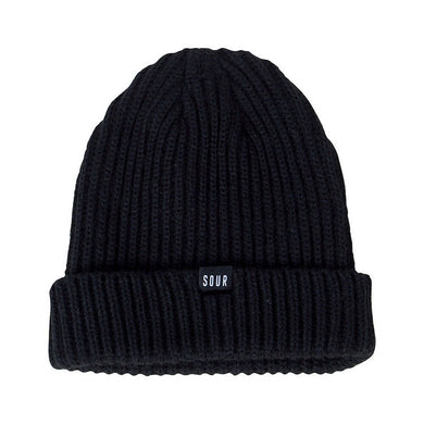 Sour Skateboards Sweeper Beanie Black