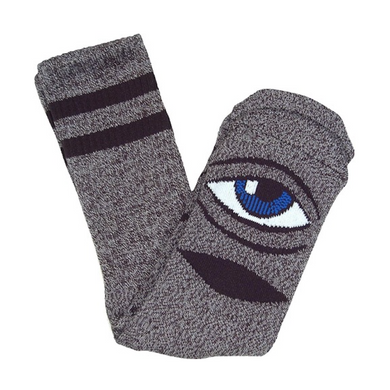 Toy Machine Sect Eye Pink Heather Crew Socks