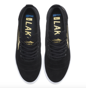 Lakai Bristol Black/Gold/Suede Shoes