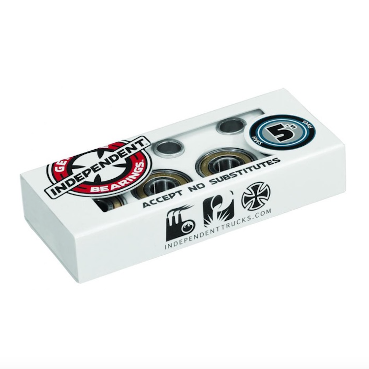 Independent Truck Co Abec 5 Skateboard Bearings (Pack of 8)