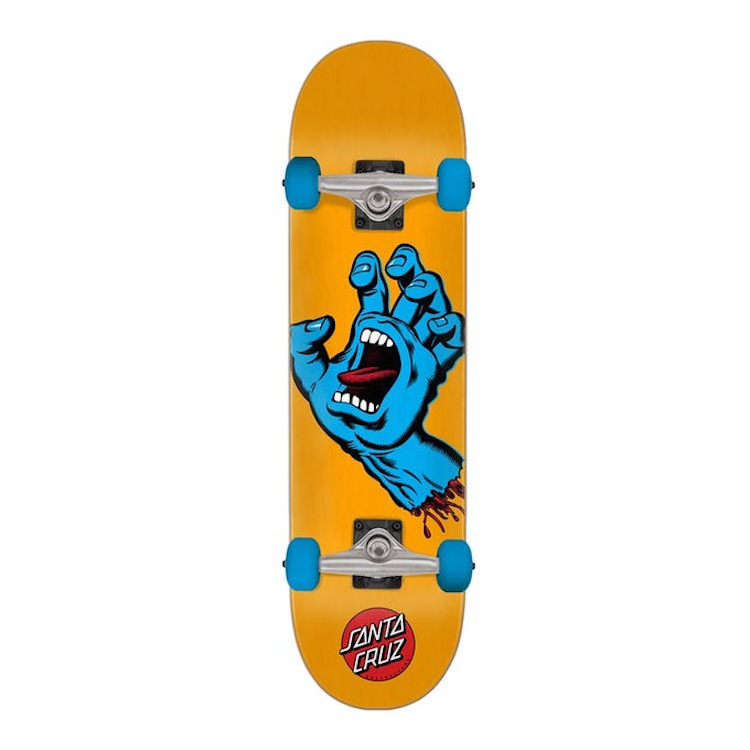 Santa Cruz Skateboards Screaming Hand Orange Complete Skateboard 7.8