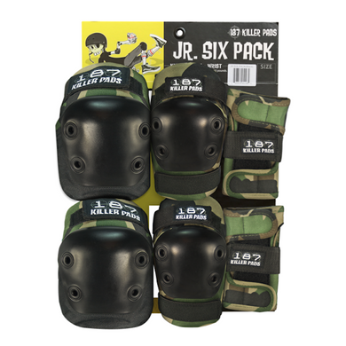 187 Killer Pads Junior Six Pack Set Camo