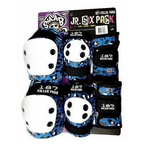187 Killer Pads Junior Six Pack Set Kevin Staab Blue
