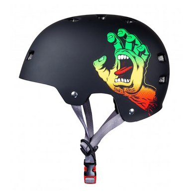 Bullet x Santa Cruz Screaming Hand Rasta Black Helmet Size L/XL