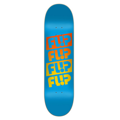 Flip Skateboards Team Quattro Faded Light Blue Skateboard Deck 7.81