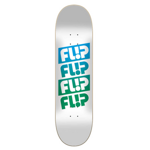 Flip Skateboards Team Quattro Faded White Skateboard Deck 7.5""