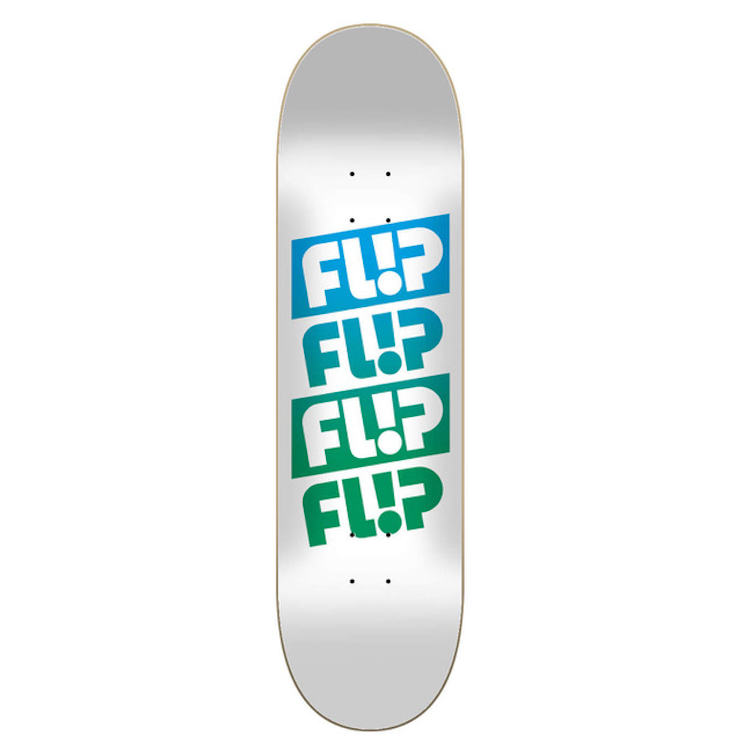 Flip Skateboards Team Quattro Faded White Skateboard Deck 7.5