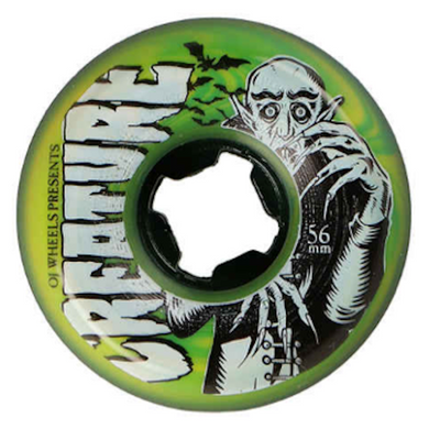OJ Wheels x Creature Hardline Thee Vampire Swirls Bloodsuckers Skateboard Wheels 97a 56mm