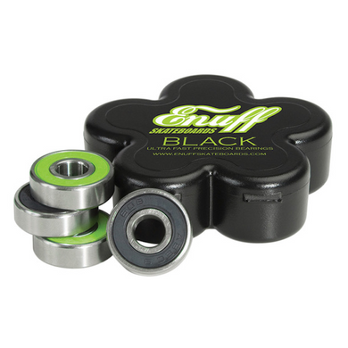 Enuff Skateboards Black Skateboard Bearings Green/Black