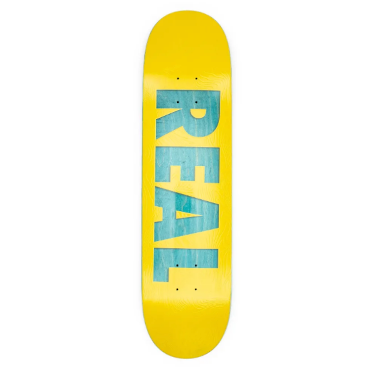 Real Skateboards Bold Team Series Yellow Skateboard Deck 8.06