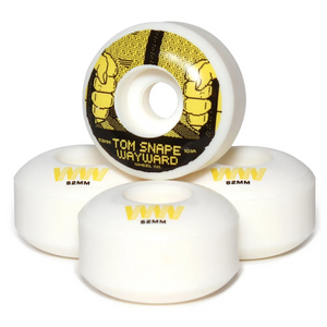 Wayward Wheels Pro Formula Tom Snape Classic Cut Skateboard Wheels 101a 52mm