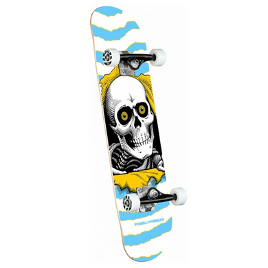 Powell Peralta Ripper One Off Light Blue Mid Complete Skateboard 7.5