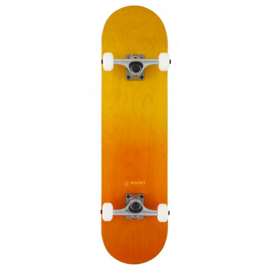 Rocket Skateboards Double Dipped Orange Complete Skateboard 8