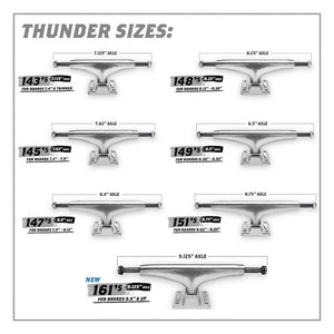 Thunder Trucks Polished Hollow Lights II Skateboard Trucks 149mm