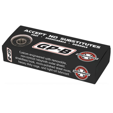 Independent Truck Co Genuine Parts Skateboard Bearings Black GP-B (Pack of 8)
