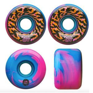 Slime Ball Wheels Swirly Swirl Pink/Blue Skateboard Wheels 78a 65mm