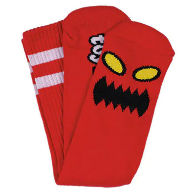 Toy Machine Monster Face Crew Socks Red