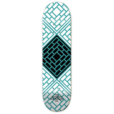 The National Skateboard Co. Classic Blue Skateboard Deck 8.25