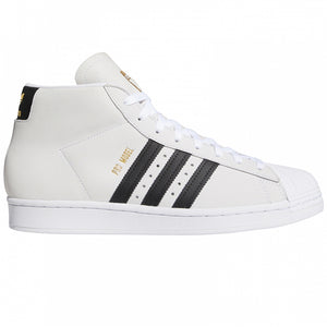 Adidas Skateboarding Pro Model Footwear White/Core Black/Gold Metalic Shoes