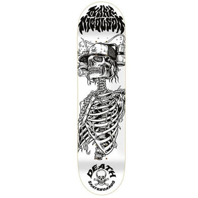 Death Skateboards Mark Nicolson Beer Helmet Skateboard Deck 8.5