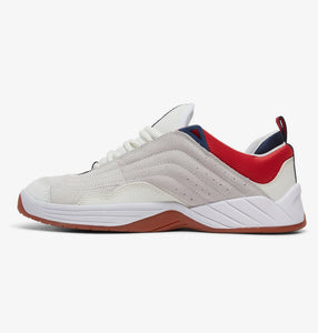 DC Shoes Williams Slim S White/Navy/Red Shoes