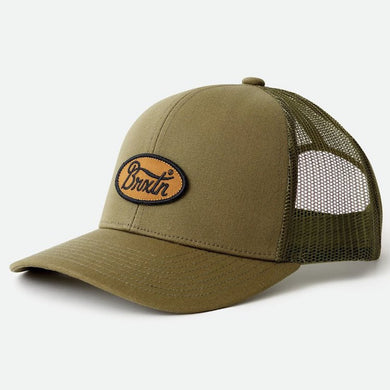 Brixton Parsons Crossover MP Meshback Snapback Cap Olive