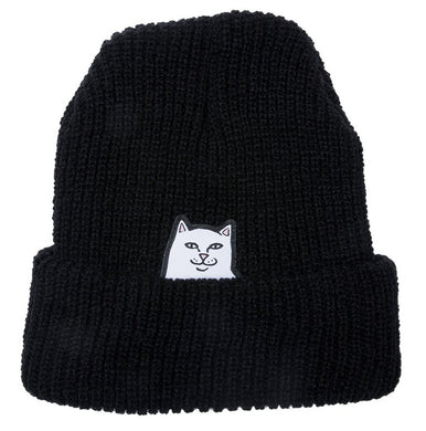 RIPNDIP Lord Nermal Ribbed Black Beanie