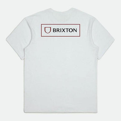 Brixton Alpha Block Tailored S/S Standard T-Shirt white