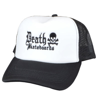 Death Skateboards Old English Mesh Cap White/Black