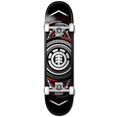 Element Hatched Red/Silver Complete Skateboard 7.5