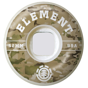 Element Camo Griffin Skateboard Wheels 99a 52mm