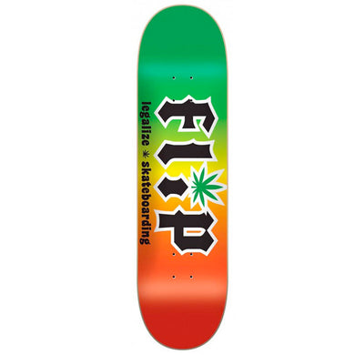 Flip Skateboards HKD Legalize Rasta Skateboard Deck 8.25