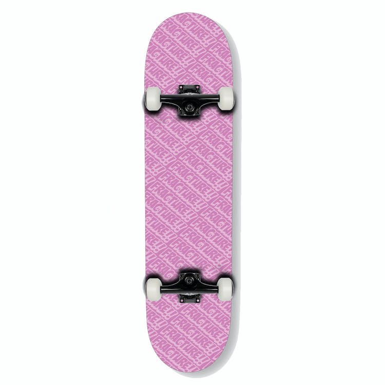Fracture Skateboards All Over Comic Pink Complete Skateboard 7.75
