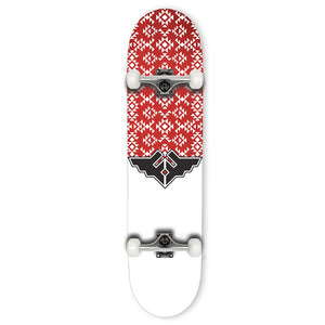 Fracture Skateboards Wings V3 Red Complete Skateboard 7.75""