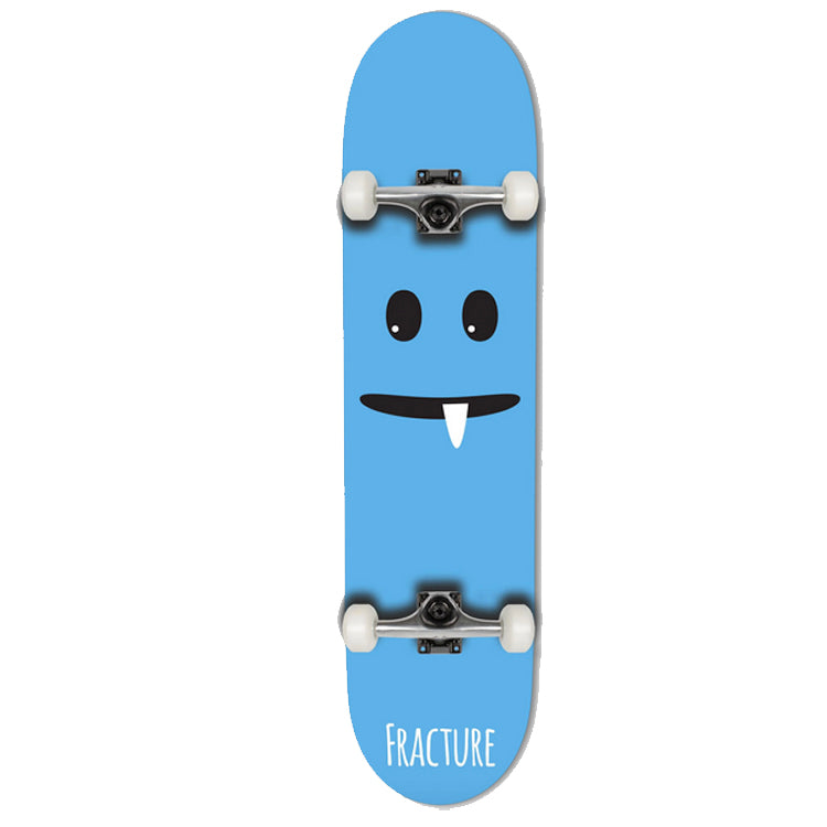 Fracture Skateboards Lil Monsters Blue Complete Skateboard 7.75