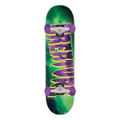 Creature Skateboards Galaxy Mid Green/Purple Complete Skateboard 7.8
