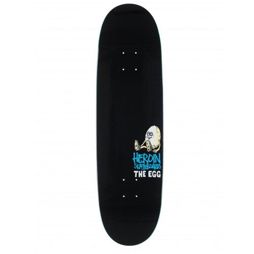 Heroin Skateboards Black Summer 'Original Egg' Skateboard Deck 8.7″