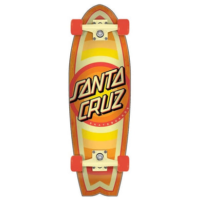 Santa Cruz Gleam Dot Shark Cruiser Complete Skateboard 8.8