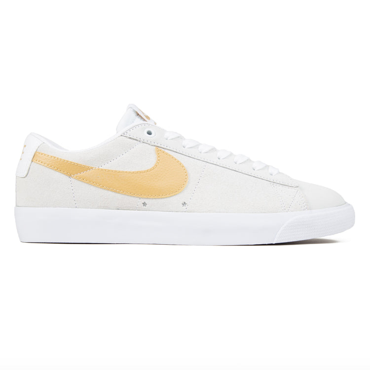Nike SB Zoom Blazer Low GT White/White/Light Thistle/Club Gold Shoes