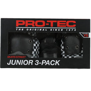 Pro-Tec Street Gear Junior 3-Pack Skateboard Pad Set Checker