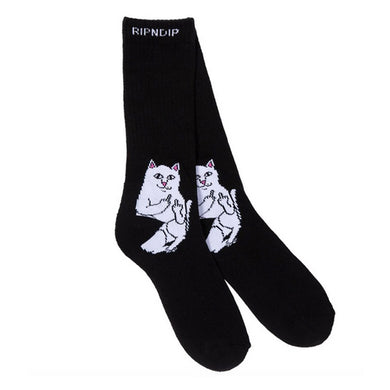 RIPNDIP Lord Nermal Black Crew Socks