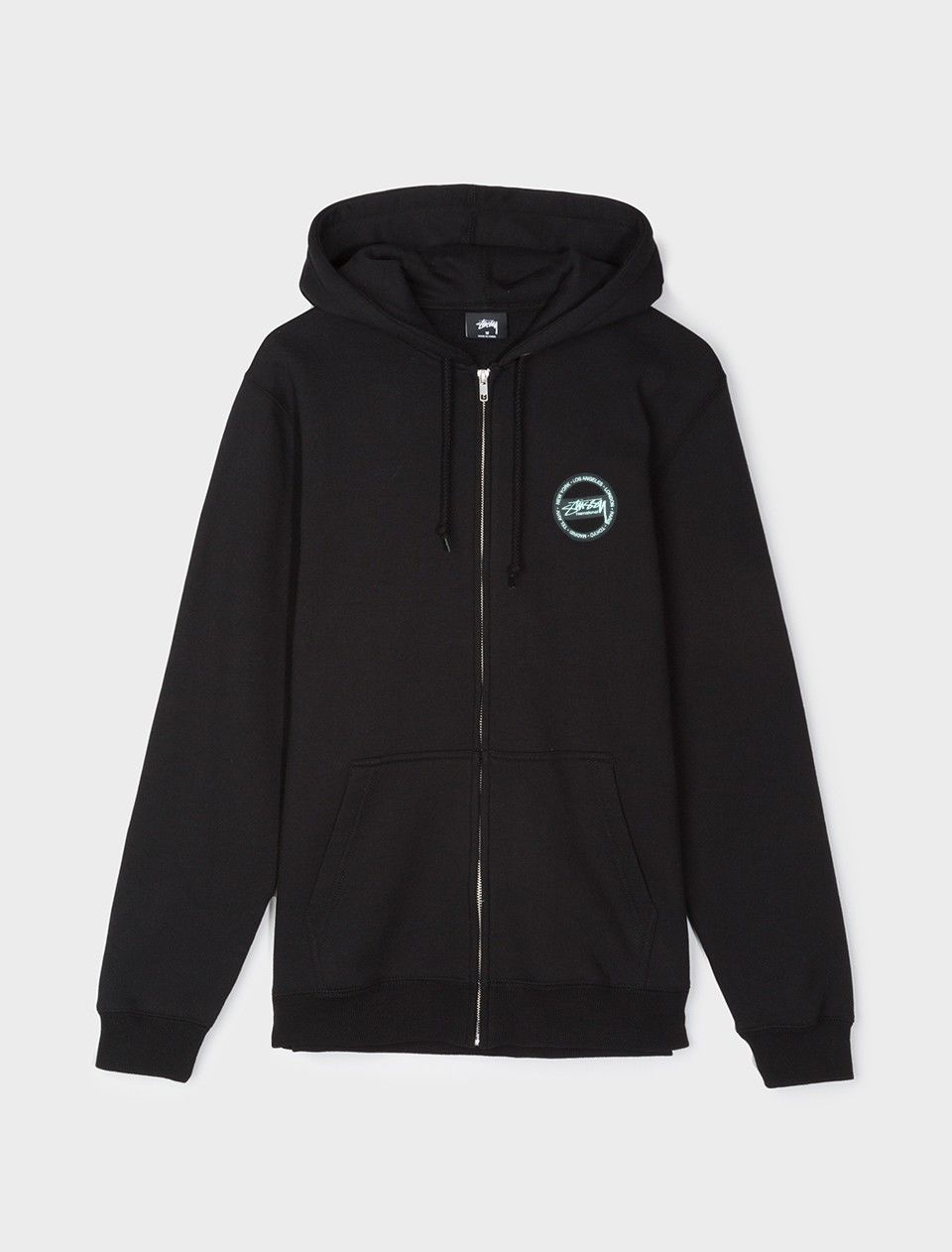 Stussy International Dot Zip Hoody Black