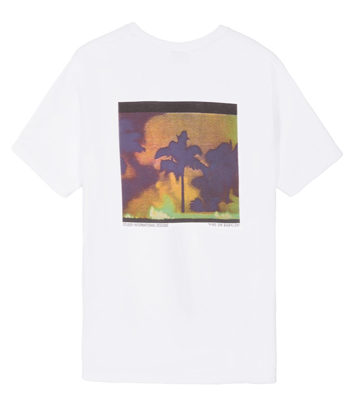 Stussy Fire On Babylon T-Shirt White
