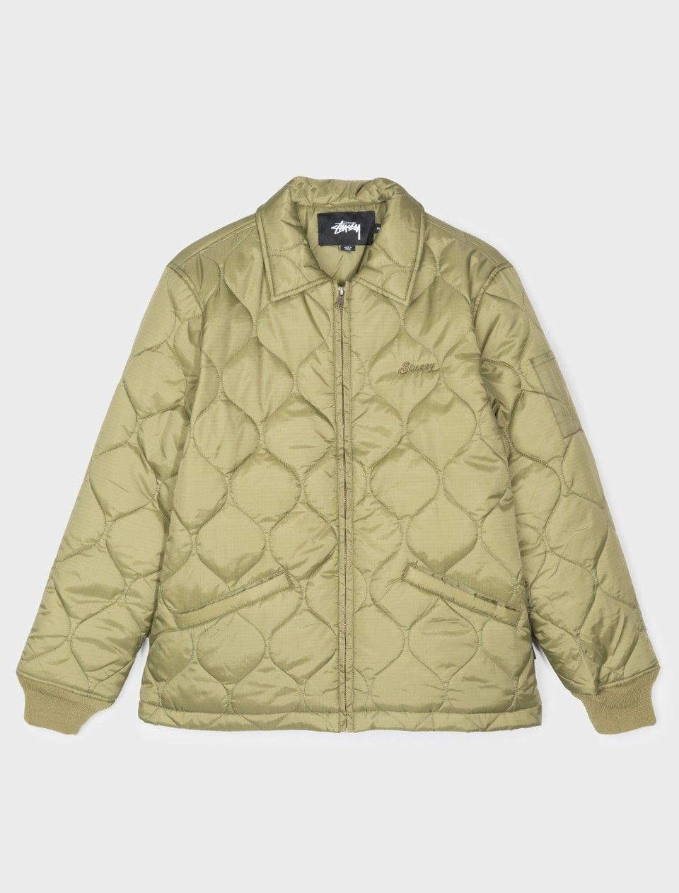 Stussy Quilted Work Jacket Olive