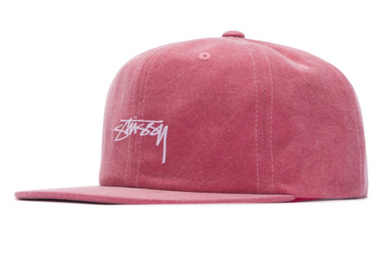 Stussy Washed Oxford Canvas Snapback Cap Red