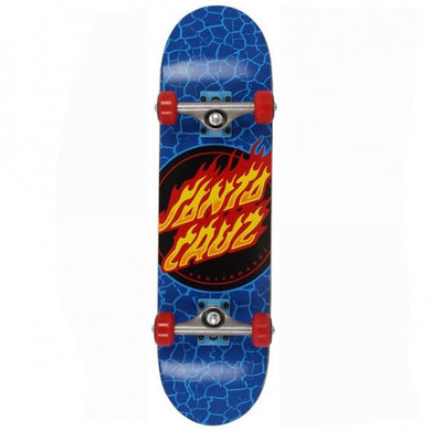 Santa Cruz Skateboards Flame Dot Blue Complete Skateboard 7.5